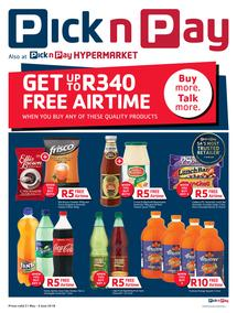 Pick n Pay : Get Up To R340 Free Airtime (21 May - 03 Jun 2018), page 1