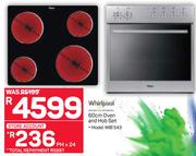 Whirlpool 60cm Oven And Hob Set WIB 543