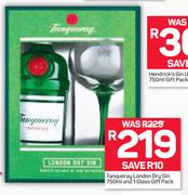 Tanqueray London Dry Gin-750ml & 1 Glass Gift Pack