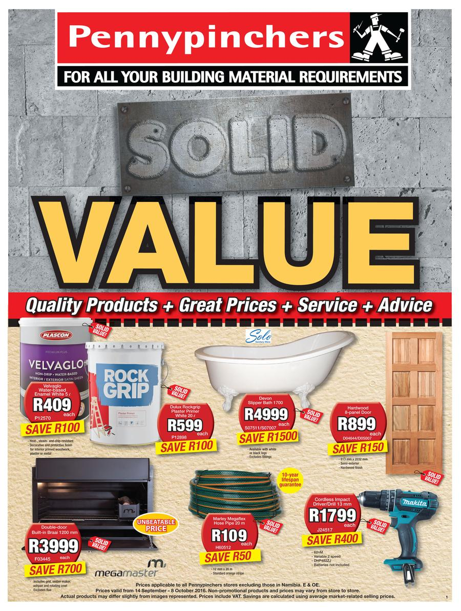 Pennypinchers : Solid Value (14 Sep - 8 Oct 2016)