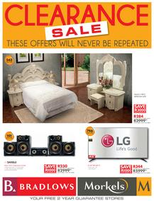 Bradlows & Morkels : Clearance Sale (15 Aug - 28 Aug 2016), page 1