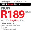 Sony Xperia M Smartphone-On MTN Any Time 100