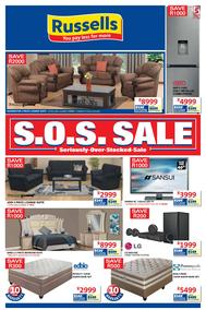 Russells : S.O.S Sale (14 May - 17 Jun 2018), page 1