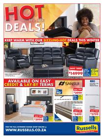 Russells : Hot Winter Deals (20 May - 16 Jun 2019), page 1