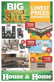 House & Home : Big Birthday Sale (21 May - 02 Jun 2019), page 1