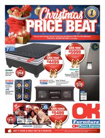 OK Furniture : Christmas Price Beat (06 Nov - 18 Nov 2018), page 1