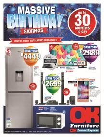 OK Furniture : Massive Birthday Savings (19 Jun - While Stock Last), page 1
