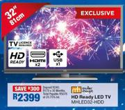"Muller & Houpt 32""(81cm)HD Ready LED TV MHLED32-HDD"