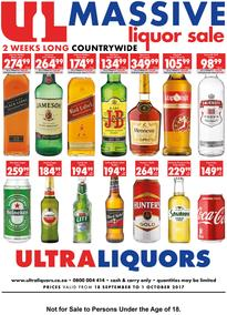 Ultra Liquor : Massive Liquor Sale (18 Sep - 01 Oct 2017), page 1