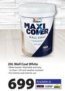Dulux Maxi Cover Wall Coat White-20Ltr